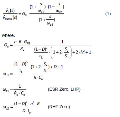 boost converter design equations pdf