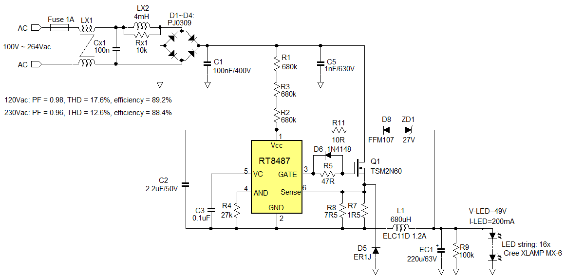 led light driver circuit diagram the wiring diagram an022 richtek technology circuit diagram