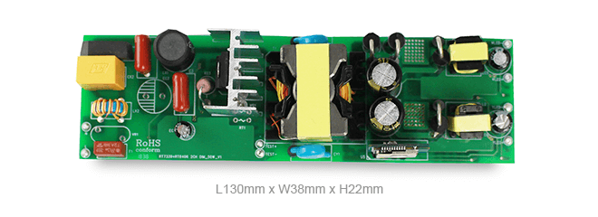 40W flicker-free dimmable colour changeable isolated LED driver solution